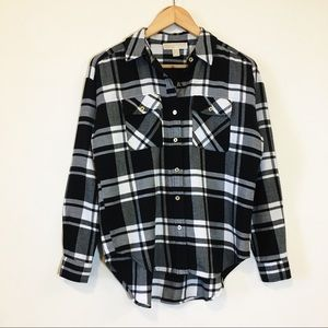 NWOT Michael Kors Flannel With Gold Buttons